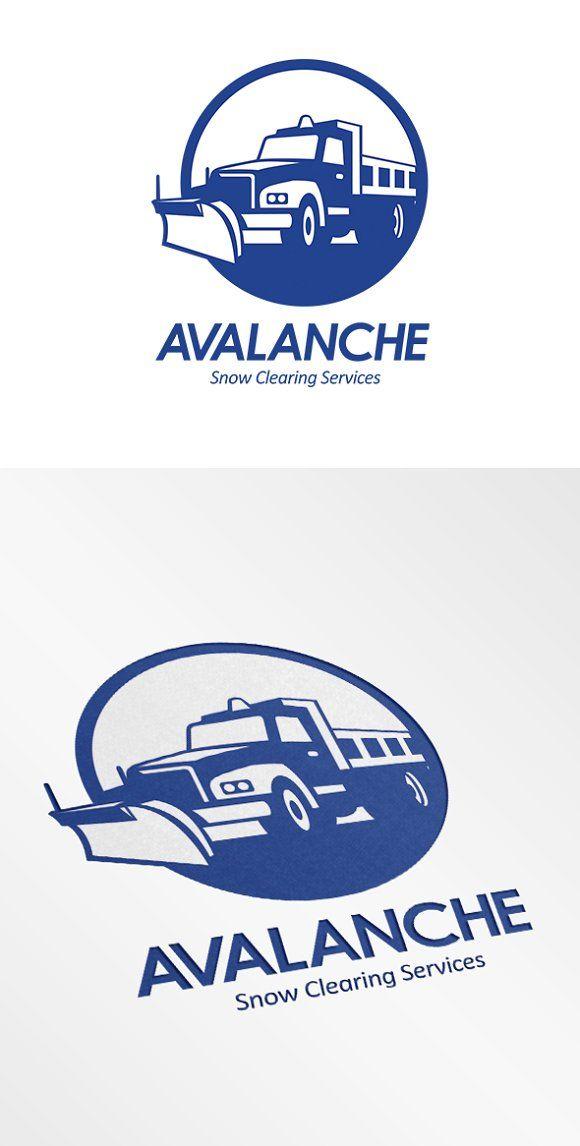 Avalanche Snow Removal Services Logo by patrimonio on @creativemarket