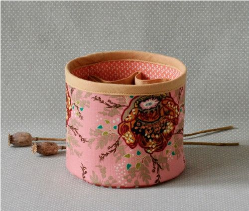 blossoms and branches...textile box for anything