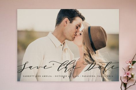 Flow Save The Date Cards by Lehan Veenker at minted com