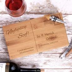 Personalizowane akcesoria do wina LIST idealny na urodziny