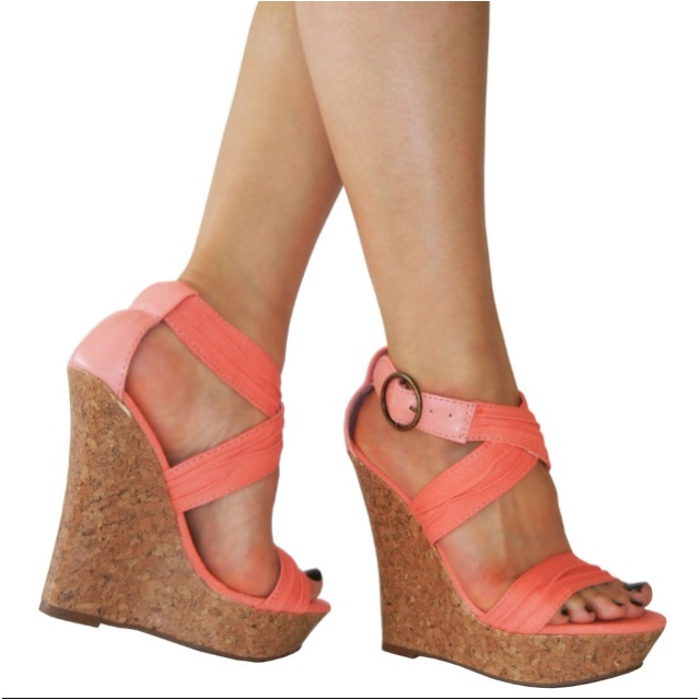 Love the color...Shoes, Canvas Corks, Wedges Heels, Coral Corks, Style, Awesome, Corks Wedges, Addict, Coral Wedges