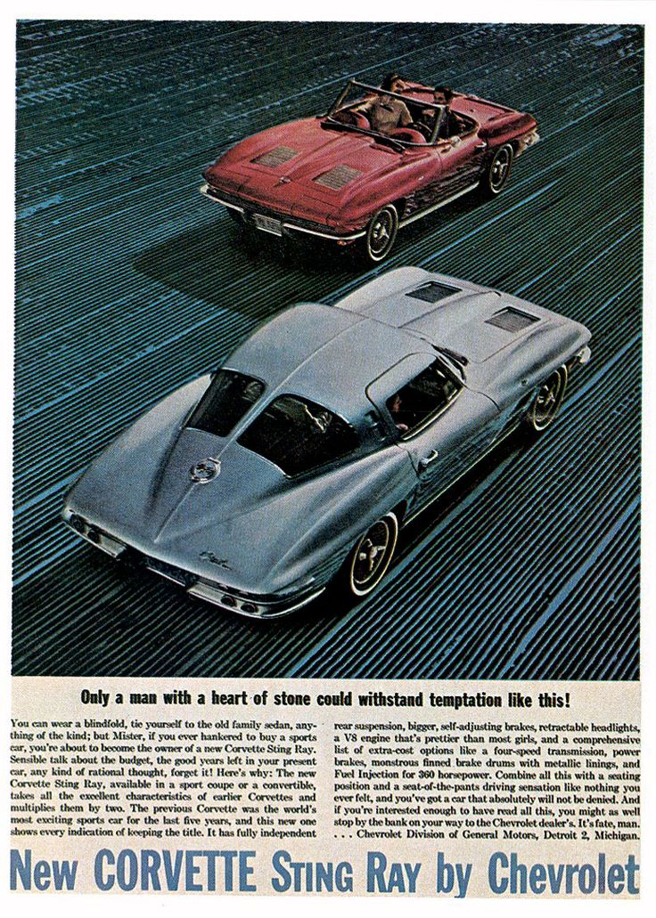 1963 advertisements chevrolet old car ads home old car for 1964 corvette stingray split window