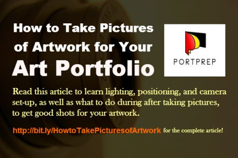 How to Take Pictures of Artwork for Your Art Portfolio