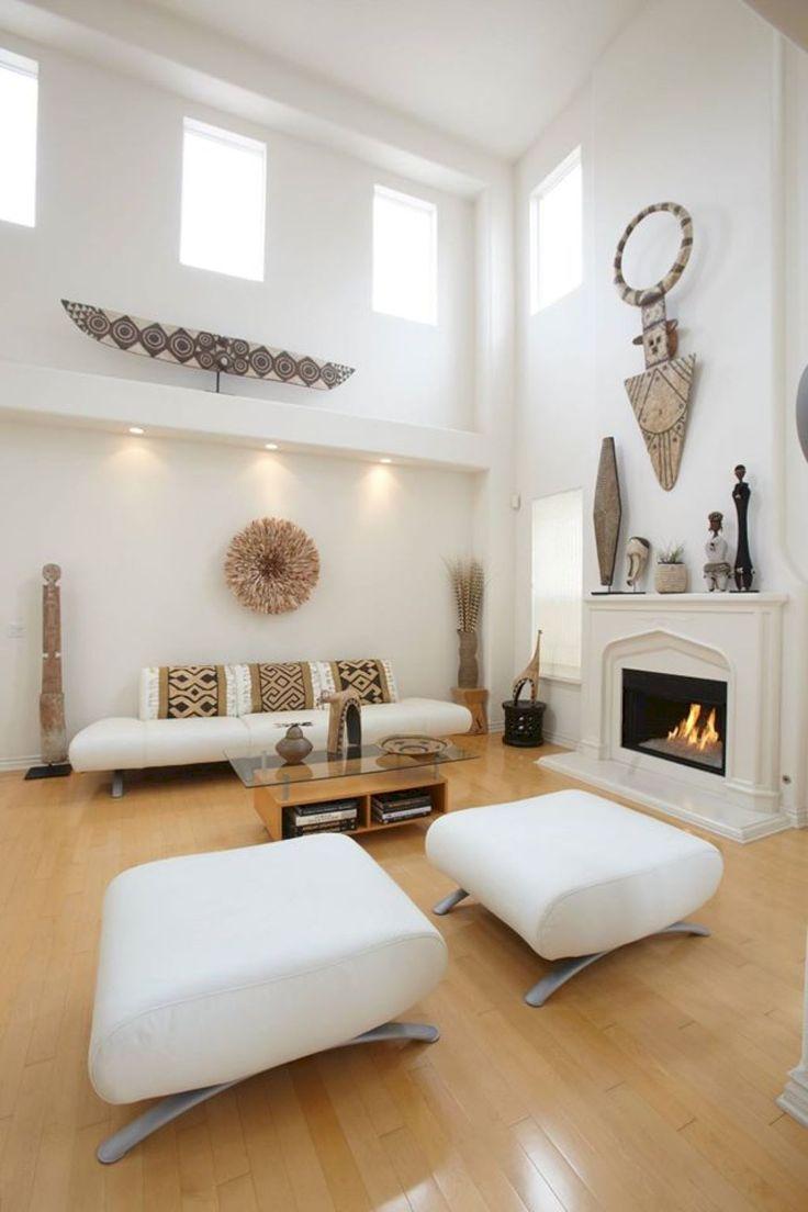 50 Stunning Minimalist Living Room Decoration Ideas. African Interior ...