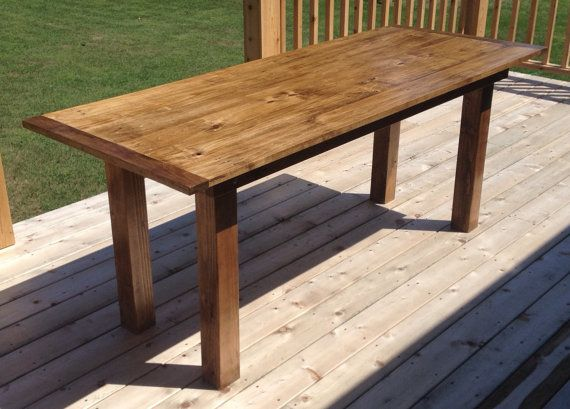 Farm Style Dining Table by WebersWoodwork on Etsy