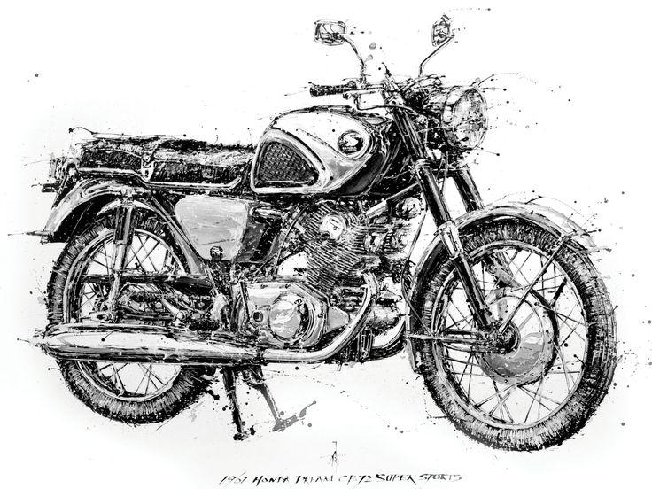 1961 Honda CB72, painted by Endo Makoto.