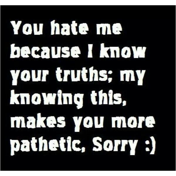 """Absolute truth!!! Pathetic doesn't even begin to describe the train wreck that is her and her life she lied and bragged about for years she is proof that """"insecurities are loud"""" lmao"""