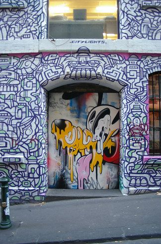 Surround yourself with sick street art on Hosier Lane in Melbourne.   10 Streets That Will Actually Warp You Into A Different Place