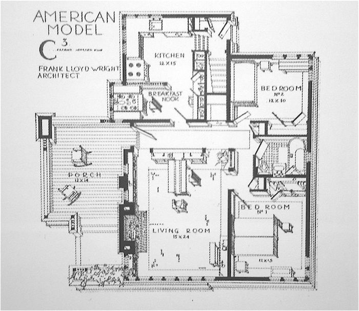 28 best images about wright frank lloyd l american system for American home builders floor plans