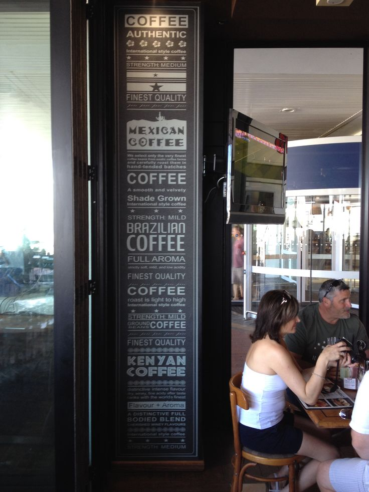 Café bar in cape Town mugs & bean. Lettering, typography