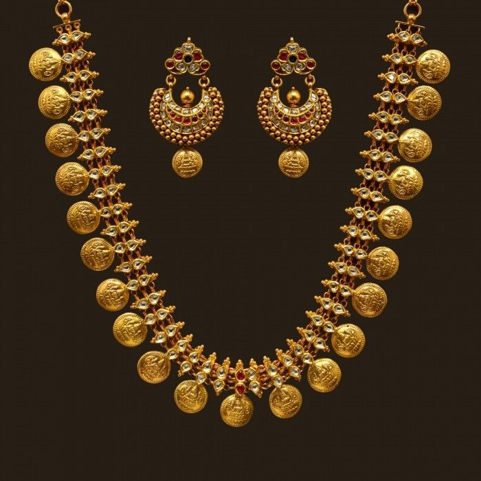 Antique Finish Long Necklace Set (VBJ-OW-GN-8)   Vummidi Bangaru Jewellers