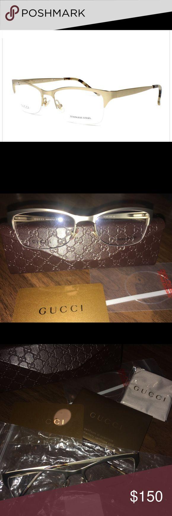 Gucci prescription eyeglass frame Light Gold Metal frame Gucci Accessories Glasses