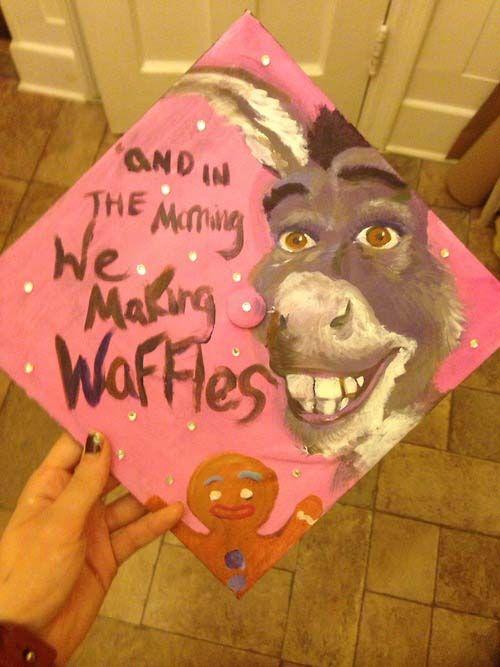 creative graduation caps shrek donkey