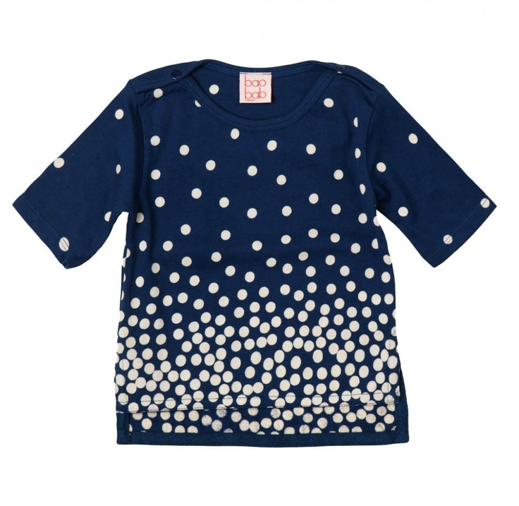 Navy Spot Boat-neck Tee by Boabab