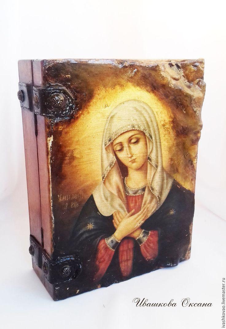 Купить Шкатулка-книга Лик Умиление - шкатулка, для мужчин, книга-шкатулка, подарок мужчине, фолиант