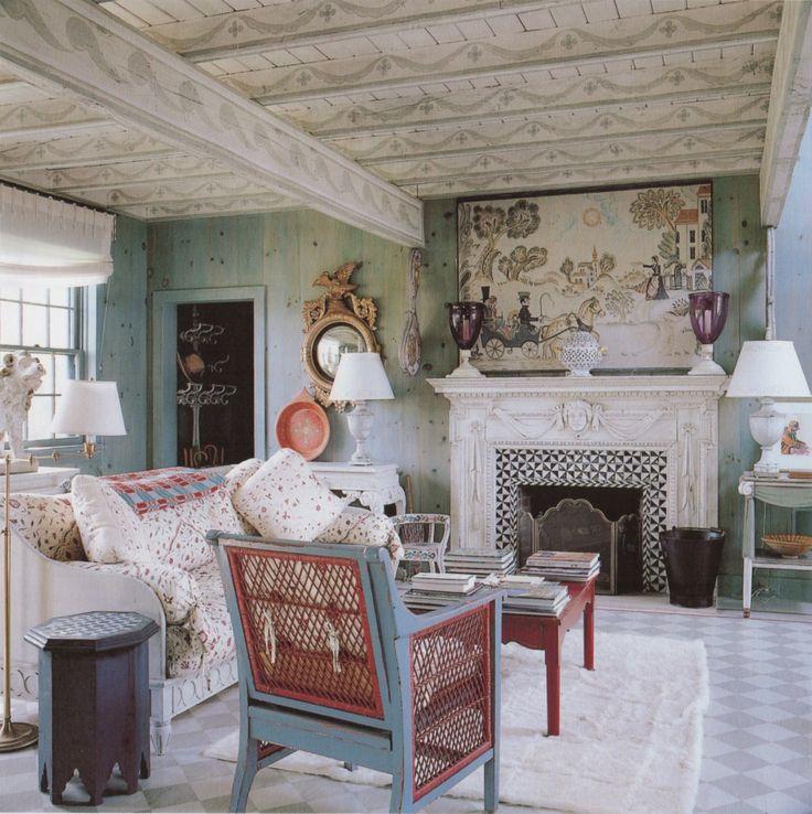 An east hampton retreat v rt nya hem pinterest - Bazaar home decorating property ...