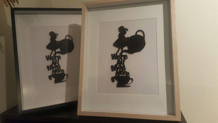 Alice in Wonderland wall art $40 from Sherlock Designs Facebook.com/sherlockdesigns
