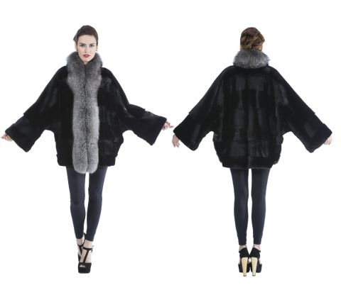 MINK FUR CAPE (ONE LINE SHEARED AND ONE NORMAL)