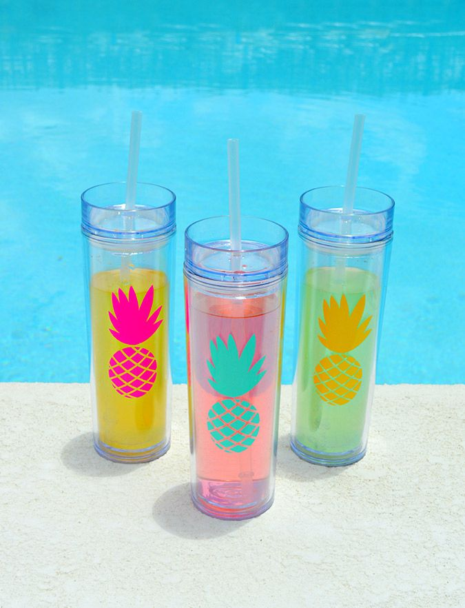 Pineapple skinny tumblers, essential for summer