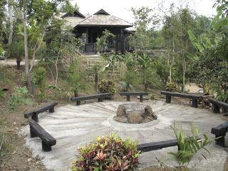Asian fire pit, minimalist design