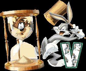 Alfabeto animado de Bugs Bunny con reloj de arena. | Oh my Alfabetos!