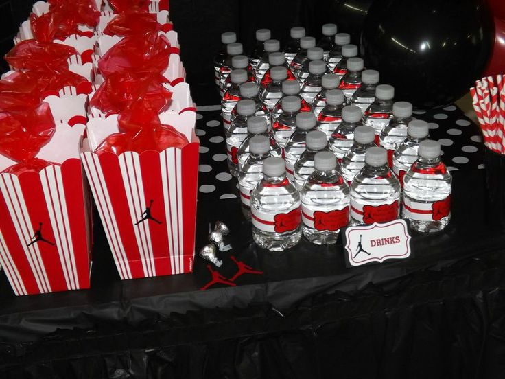 Jumpman Inspired Baby Shower Favors Water Bottles