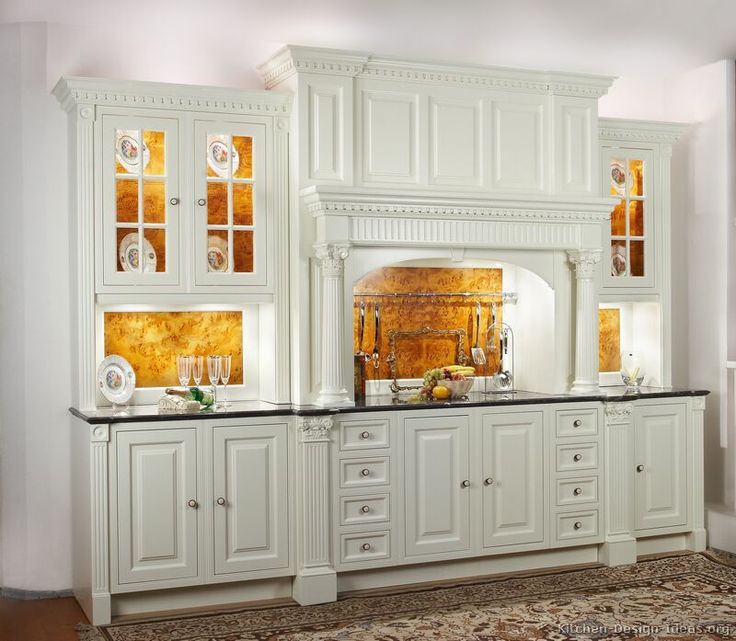 Nice Traditional White Kitchen Cabinets #27 (Kitchen Design Ideas.org)