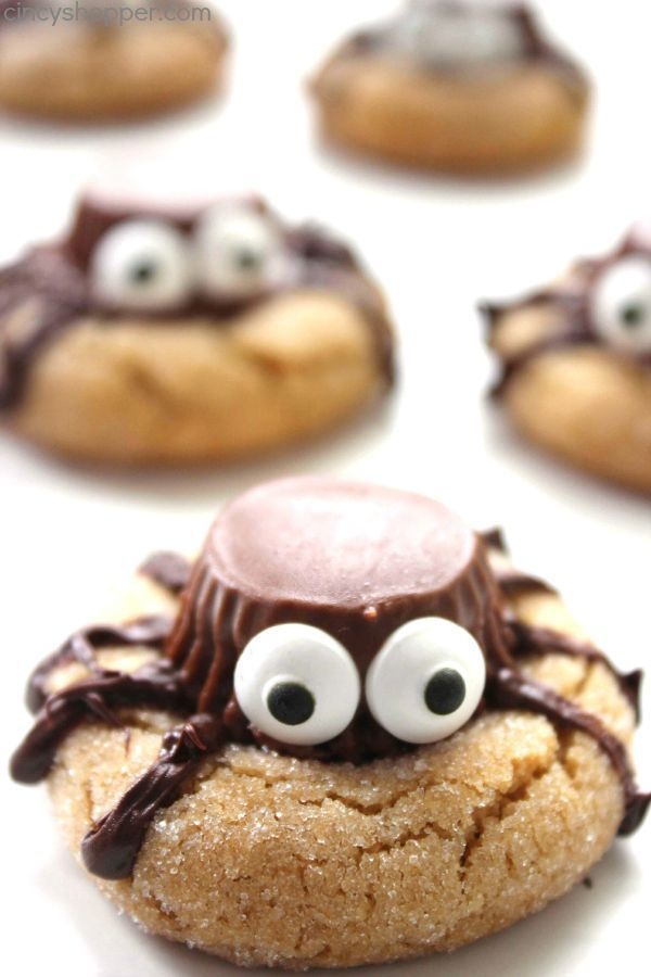 Araña de Halloween Cookies - convite perfecto del partido. DIY Spider