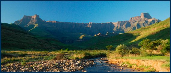 The natural beauty of the Drakensburg