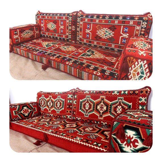 Arabic Style Majlis Floor Sofa Set Floor Seating Sofa Bohemian Furniture Living Room Sofa Sofa Floor Couch Oriental Floor Seating Sofa Set Floor Seating Bohemian Furniture