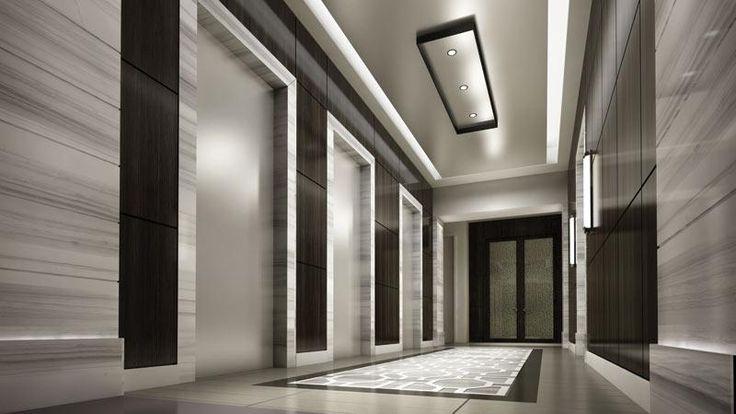 elevator lobby design: Modern Condos, Dark Lobbies, Lobbies Design ...