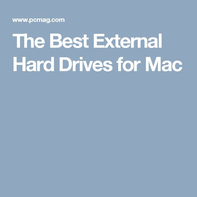 The Best External Hard Drives for Mac