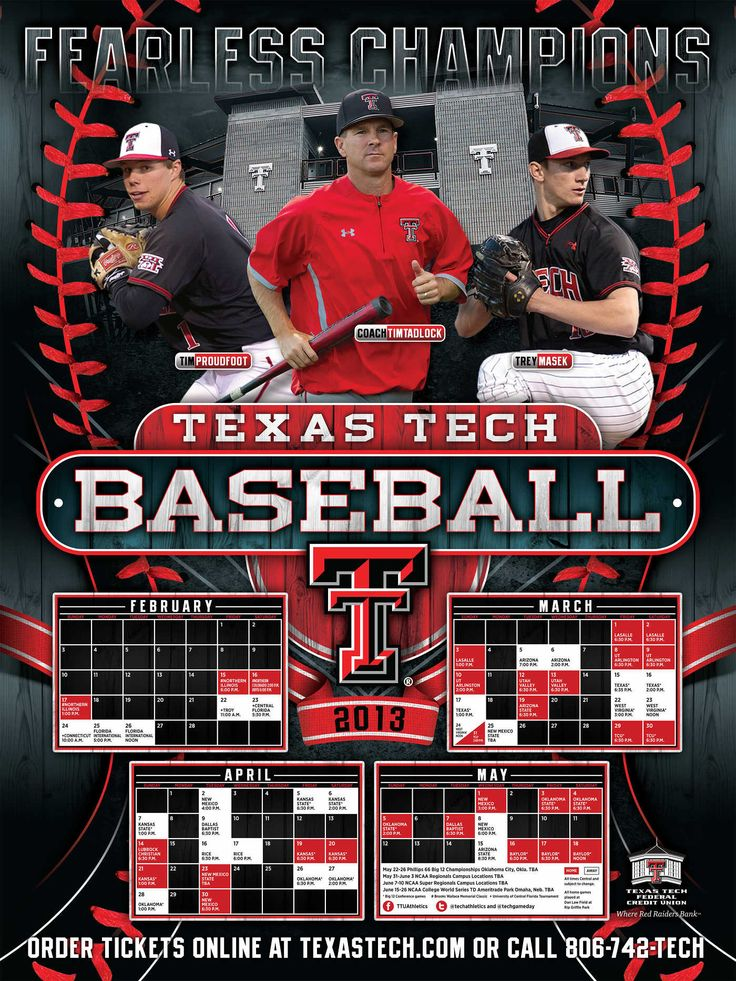 2013 Texas Tech Baseball Poster