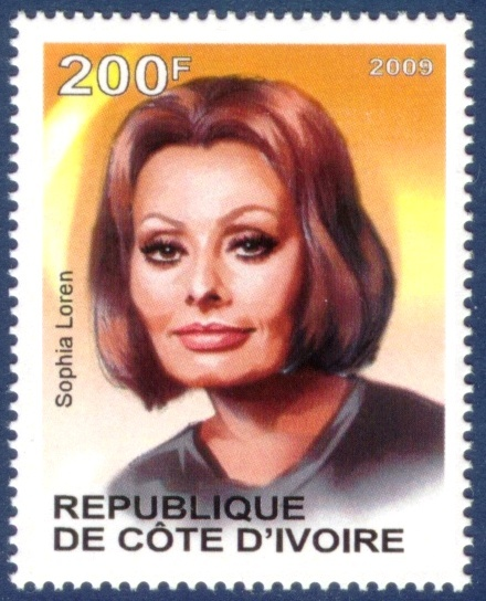 Sophia Loren: Seals, Ivory Coast, Stars Stamps, Stamps Classic Movies, Collectible Stamps, World, Postal Stamps Classic, Postage Stamps