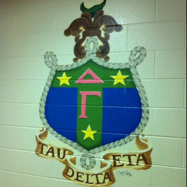 On the wall...Delta Gamma house...JMU Delta gamma
