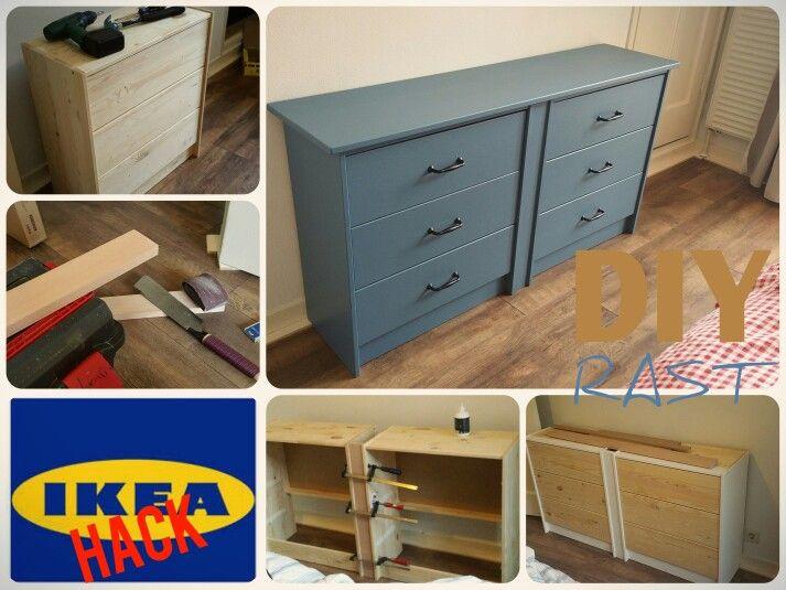 Onze IKEAhack. Rast kast omgebouwd tot mooie ladekast. Makkelijk, goedkoop en super fijn! Totale kosten 50euro. #IKEA #HACK #CHEAP #RAST #ditisbram.nl