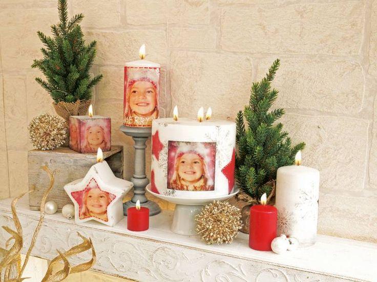 Foto Kerze gestalten mit Foto Transfer Potch, Fotogeschenk zu Weihnachten