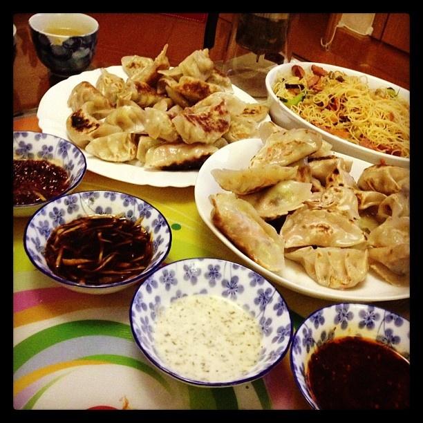 Fried dumplings and rice noodle~