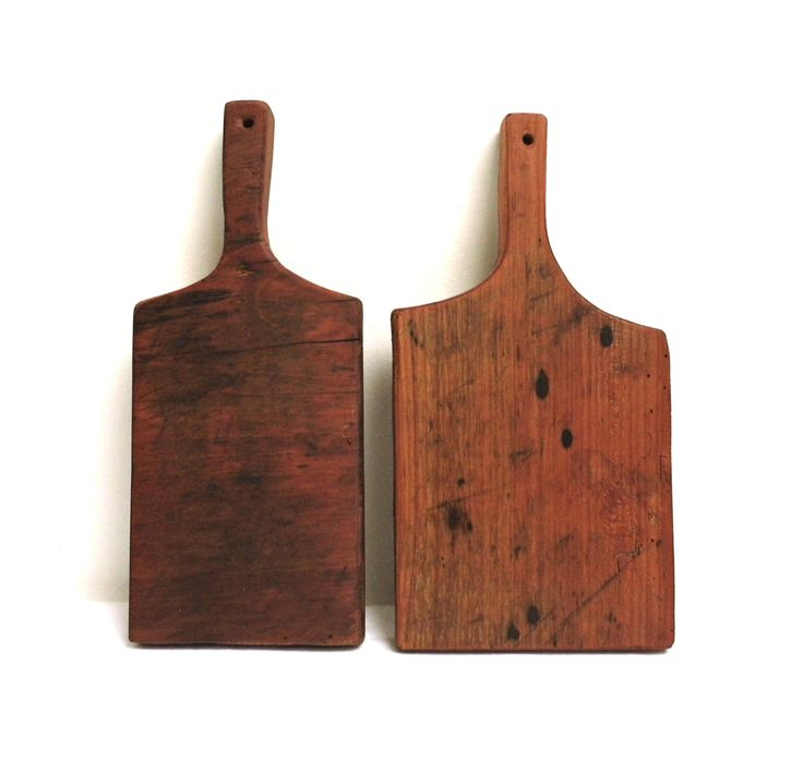 Vintage Chopping Cutting Board Cherry Wood Rustic Bread Cheese Onion Small  Plate Serving Antique Kitchen Utensil