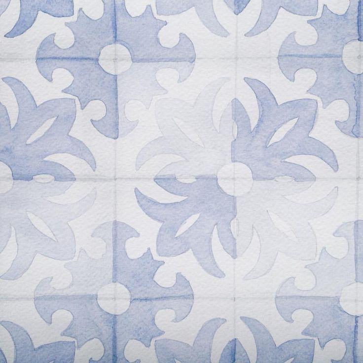 Instagram @kimartinsartist  || Number 10 || 15cmx19,5cm watercolor ink in watercolor paper with 300g/m2 #watercolor #painting #art #tiles #traditional #traditionalart #decoration #wall #kimartinsartist #color