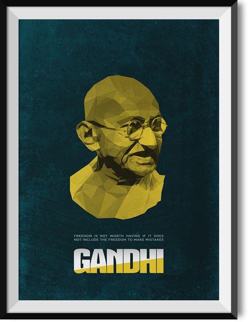 "Gandhi ""Freedom"" quote poster"