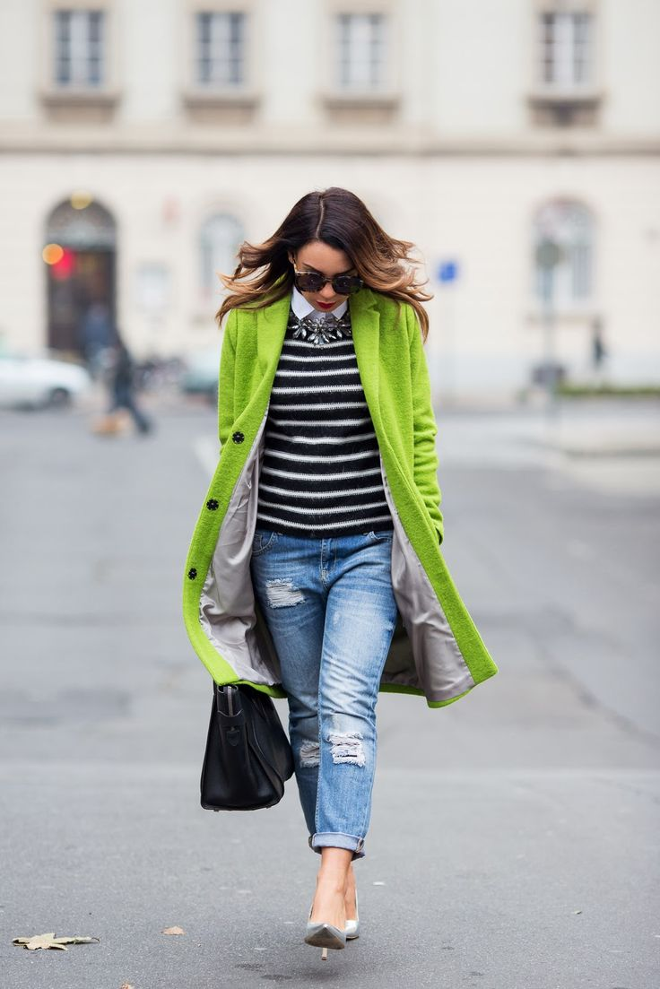 Awesome color combo!!Cashmere in Style : Lime Green & Stripes