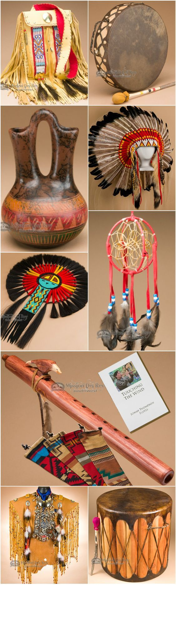 If you like Native American decor, check out our incredible Native American drums, medicine bags, headdresses, flutes, war shirts and more.  See over 5,000 Native American, southwest, and western home decor items in stock and ready to ship at http://www.missiondelrey.com/native-american-decor-artifacts/