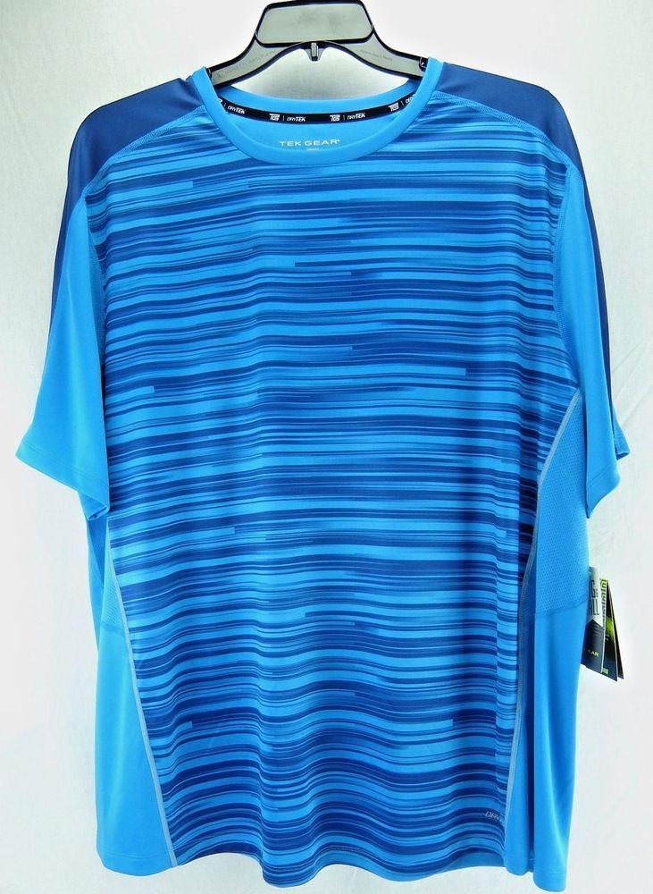 Tek Gear Mens Activewear Top Drytek Fitness Train Blue Big/Tall 2XB 3XB 4XB 3XLT #TekGear #ShirtsTops
