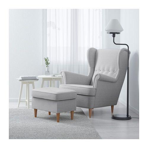 STRANDMON Ohrensessel - Nordvalla hellgrau - IKEA