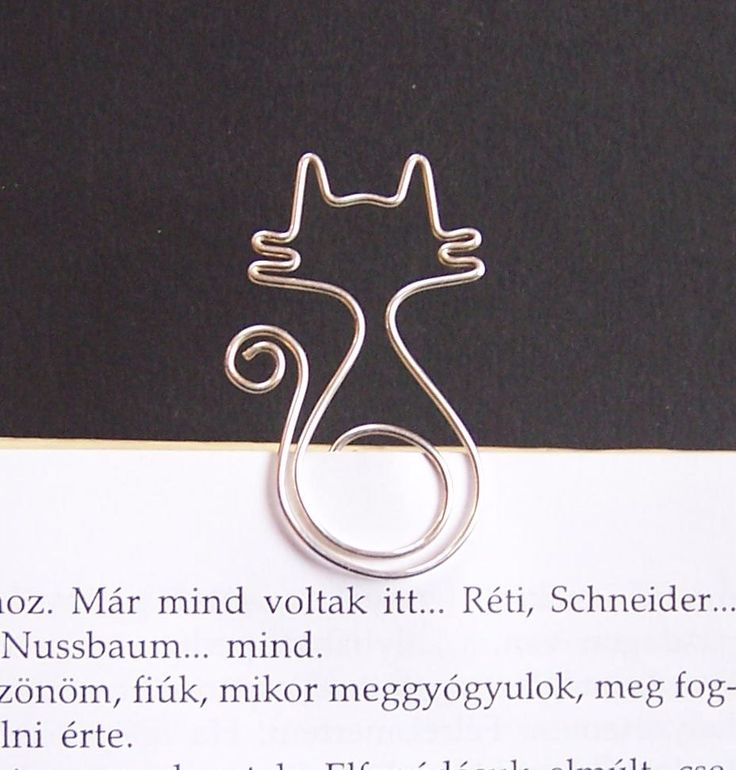 Mirr-Murr - cat wire bookmark.