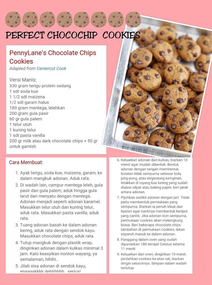 Resep chocochip cookis 1 (Dengan gambar) Resep, Makanan