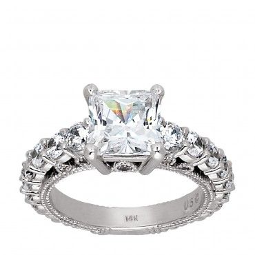 The Unique Pompeii Ring With A Semi Eternity Band Www Diamondnexus In 2018 Pinterest Engagement Rings And Create