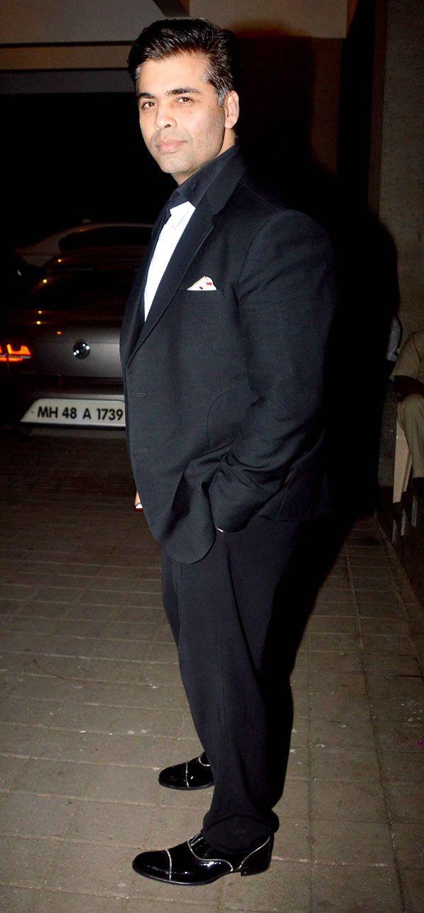Karan Johar at Manish Malhotra's birthday bash. #Bollywood #Fashion #Style #Handsome