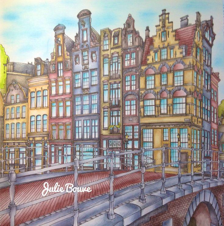 Fantastic Cities Derwent Inktense Pencils Colored By Julie Bouve